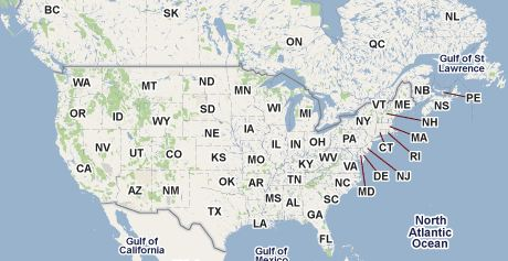 North America Photo Map